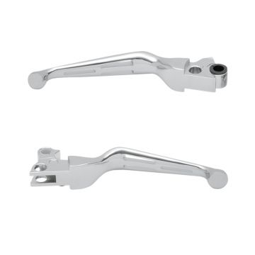 Chrome Slotted Wide Blade Levers for 1999-2014 Harley-Davidson Softail models