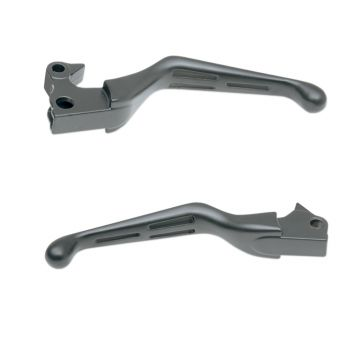 Satin Black Slotted Wide Blade Levers for 2004-2013 Harley-Davidson Sportster models