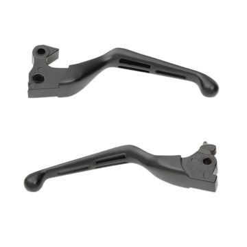 Satin Black Slotted Wide Blade Levers for 2014 and newer Harley-Davidson Sportster models