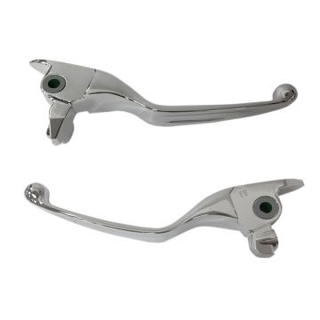 Chrome Smooth Wide Blade Levers for 2017 and newer Harley-Davidson Touring, 2019 and newer Trike models