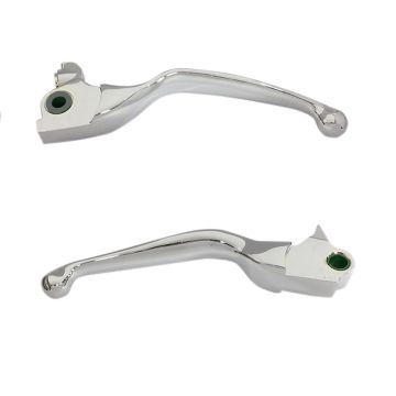 Chrome Smooth Wide Blade Levers for 2017-2018 Harley-Davidson Tri Glide and Freewheeler models