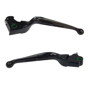 Satin Black Slotted Wide Blade Levers for 2014-2016 Harley-Davidson Tri Glide and Freewheeler models