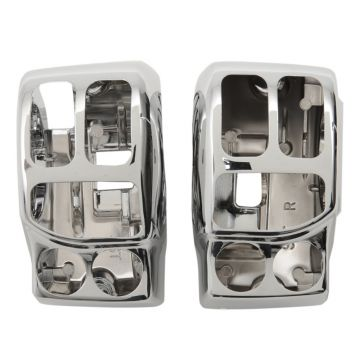 Chrome Handlebar Switch Housings for 2014 and Newer Harley-Davidson Touring models