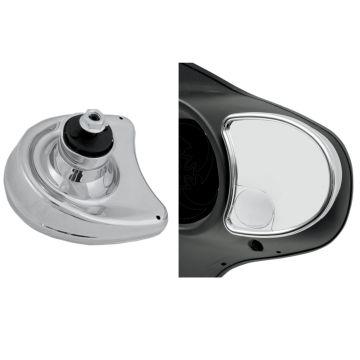 Chrome Fairing Mount Blind Spot Mirrors for 2006-2013 Harley-Davidson Street Glide models