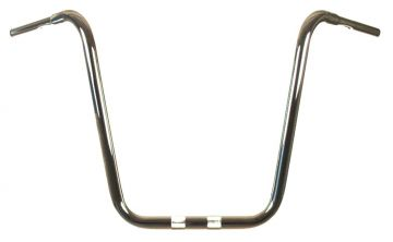 """HCC True 1 1/4"""" diameter Chrome 20"""" Ape Hanger for Harley Fat Boy, Fat Bob, Breakout, Sport Glide, Road Glide models"""