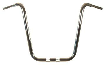 HCC True 1 1/4 inch diameter Chrome 22 inch Ape Hanger for Harley Fat Boy, Fat Bob, Breakout, Sport Glide, Road Glide models