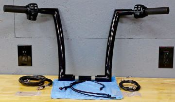 HCC 1 1/2 Hell Bent Ape Hangers PREWIRED Handlebar Kit as seen on YOU TUBE for Softail 2016-2020 Harley Davidson Motorcycles