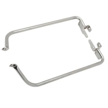 Chrome Saddlebag Support Bracket Set for 2014 and Newer Harley-Davidson Street Glide and Road Glide models