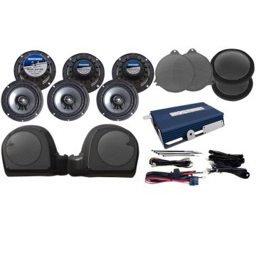 Hogtunes 200 Watt 6 Speaker and Amplifier Kit for 2014 and newer Harley-Davidson Ultra Classic, Limited and Trike TWIN-COOLED models