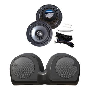 "Hogtunes 125 Watt 2 Ohm 6.5"" Lower Fairing Speaker Kit for 2014 and newer Harley-Davidson Touring models with TWIN COOLED engines"