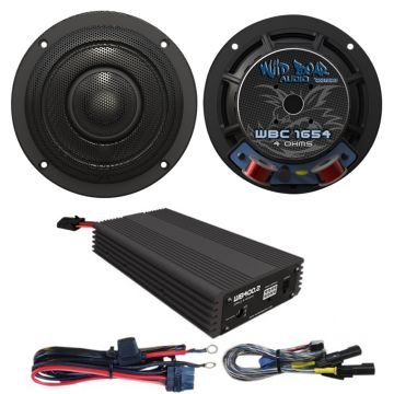 Wild Boar Audio 400 Watt Front Speaker Amplifier Kit for 2014 and newer Harley-Davidson Street Glide models