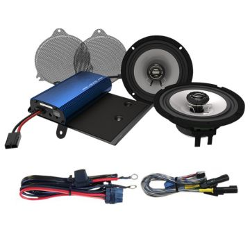 Hogtunes 225 Watt 2 Speaker Amplifier Kit for 2014 and newer Harley-Davidson Street Glide models