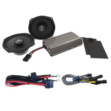 Hogtunes 225 Watt 2 Speaker Amplifier Kit for 1999-2013 Harley-Davidson Electra Glide Classic, Ultra Classic, Limited, Street Glide and Trike models