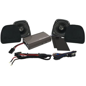 Hogtunes 225 Watt Lower Fairing Speaker Amplifier Kit for 1999-2013 Harley-Davidson Touring models with Vented Lower Fairings