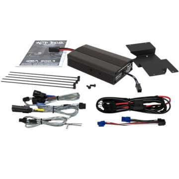 Wild Boar Audio 300 Watt 2 Channel 4 Ohm Amplifier Kit for 2014 and newer Harley-Davidson Street Glide, Ultra Classic, Limited and Trike models