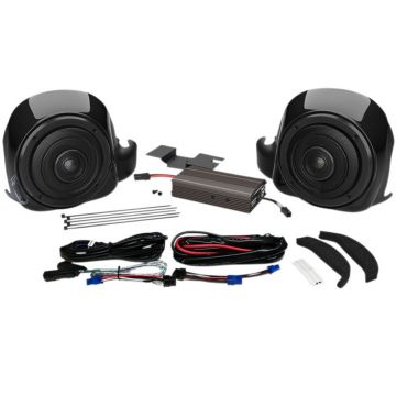 Wild Boar Audio 300 Watt Lower Fairing Speaker Amplifier Kit for 2014 and newer Harley-Davidson Ultra Classic, Limited and Trike TWIN-COOLED models