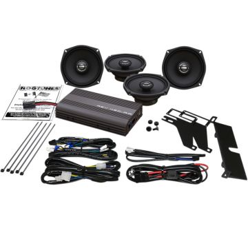 Hogtunes 200 Watt 4 Speaker Amplifier Kit for 1999-2013 Harley-Davidson Electra Glide Classic, Ultra Classic, Limited and Trike models