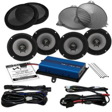Hogtunes 200 Watt 4 Speaker Amplifier Kit for 2014 and newer Harley-Davidson Ultra Classic, Ultra Limited and Trike models