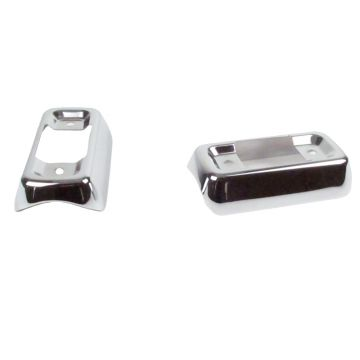 V-Factor Chrome Muffler Bracket Covers for 1997-2013 Harley-Davidson Touring models