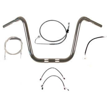 Build Your Own Custom Softail Fat Boy 2018-2020 True 1 1/4 inch BASIC Ape Hangers Handlebar DIY kit