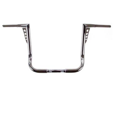 HCC 1 1/4 inch Hot Shot Bagger 14 inch Chrome Ape Hangers for Harley Davidson Motorcycles