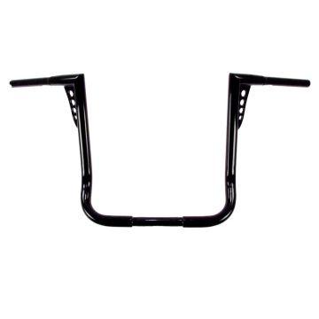 HCC 1 1/4 inch Hot Shot Bagger 16 inch Flat Black Ape Hangers for Harley Davidson Motorcycles
