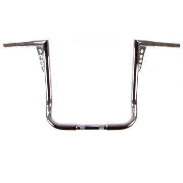 HCC 1 1/4 inch Hot Shot Bagger 16 inch Chrome Ape Hangers for Harley Davidson Motorcycles