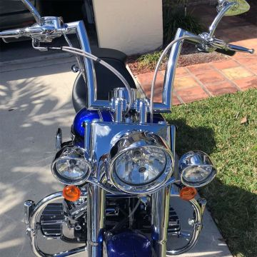 HCC 1 1/2 Hell Bent Ape Hangers PREWIRED Handlebar Kit as seen on YOU TUBE for Softail 2011-2015 Harley Davidson Motorcycles