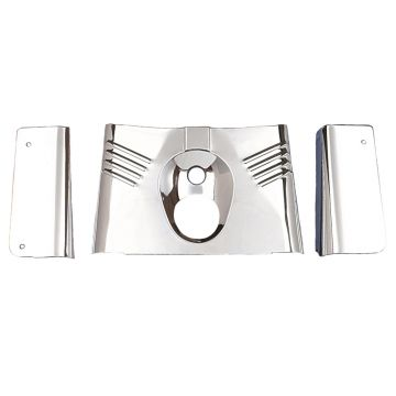 Chrome Fork Tins - 3 piece set for 1990-2008 Harley-Davidson Softail FLST models