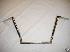 Fat Z-Bars Chrome 1 1/4 inch Ape Hangers 15 inch Rise