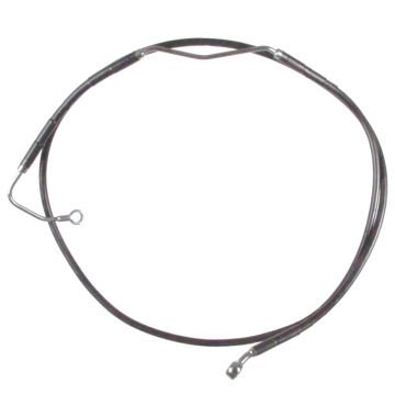 "+4"" Over Stock Front Black Vinyl Coated Upper ABS Brake Line for 2009-2013 Harley-Davidson Touring models with ABS brakes"