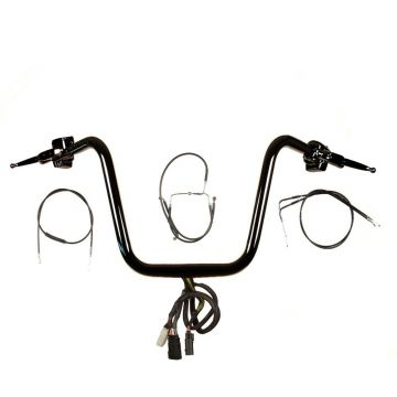 HCC COMPLETE Ape Hanger Handlebar KIT for 1997-2013 Road Glide and Road King Harley Davidson