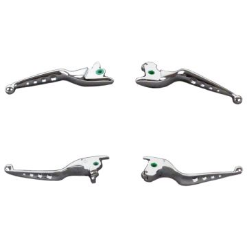 Chrome 4 Hole Wide Blade Ergonomic Brake and Clutch Levers for 2014-2016 Harley-Davidson Touring Models
