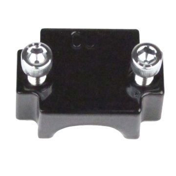 Front Black Smooth Flush Mount Axle End Cap for 2000-2013 Harley-Davidson Touring models