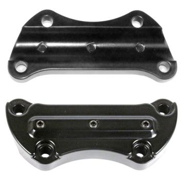 Hill Country Customs Satin Black Gorilla Grabber Handlebar Riser Top Clamp for most 1990 and newer Harley-Davidson Dyna Softail and Sportster models