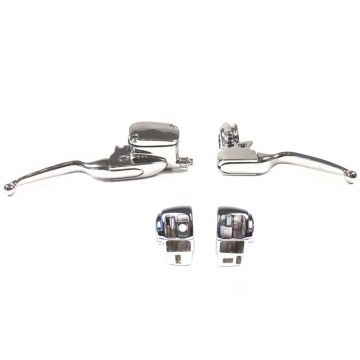 Chrome Handlebar Control kit for 2008-2013 Harley-Davidson Touring models with Radio and Cruise Control