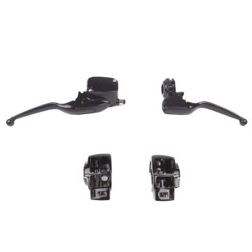 Gloss Black Handlebar Control Set for 2008-2013 Harley-Davidson Ultra Classic, Ultra Limited, Road Glide Ultra & Road King with Cruise