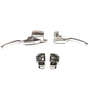 Chrome Handlebar Control kit for 1996-2007 Harley-Davidson Ultra Classic and Road King with Cruise Control