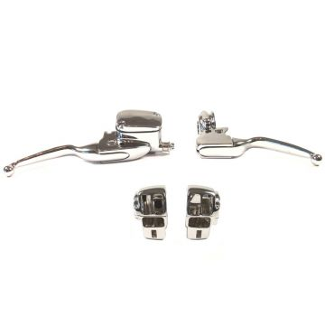 Chrome Handlebar Control kit for 1996-2007 Harley-Davidson Electra Glide & Street Glide models without Cruise