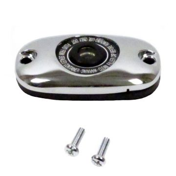 Chrome Rear Brake Master Cylinder Cover for 2000-2005 Harley-Davidson Softail models