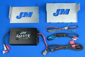 J&M Audio 350 Watt 2 Channel Amplifier Kit for 2006-2013 Harley-Davidson Electra Glide Street Glide and Trike models