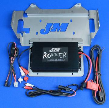 J&M Audio STAGE 5 350 Watt 2 Channel Amplifier Kit for 2014 and Newer Harley-Davidson Street Glide Ultra Classic Trike models