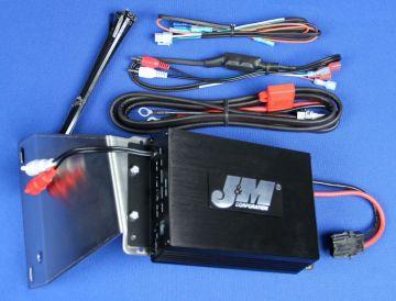 J&M Audio 200 Watt 2 Channel Performance Amplifier Kit for 2006-2013 Harley-Davidson Road Glide models