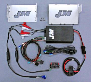 J&M Audio 400 Watt 4 Channel Amplifier Kit for 2006-2013 Harley-Davidson Street Glide models