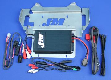 J&M Audio 400 Watt 4 Channel Amplifier Kit for 2014 and Newer Harley-Davidson Street Glide models