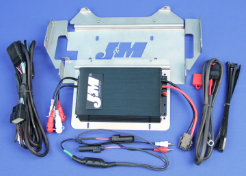 J&M Audio 400 Watt 4 Channel Amplifier Kit for 2014 and Newer Harley-Davidson Ultra Classic Limited models