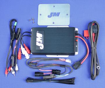 J&M Audio 400 Watt 4 Channel Amplifier Kit for 2015 and Newer Harley-Davidson Road Glide models