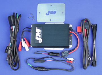 J&M Audio 400 Watt 4 Channel Amplifier Kit for 2016 and Newer Harley-Davidson Road Glide Ultra models