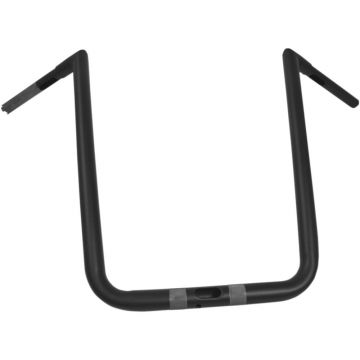"LA Chopper 1 1/4"" Hefty Twin Peaks Flat Black 19 inch Ape Hanger Handlebars for Harley-Davidson models"