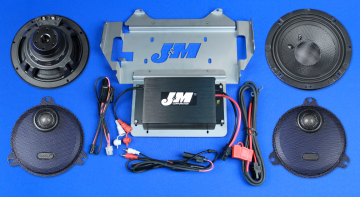J&M Audio Performance 2 Speaker and 200 Watt Amplifier Kit for 2014 and Newer Harley-Davidson Street Glide Ultra Classic models